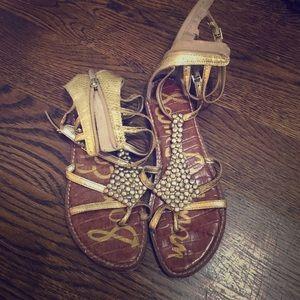 Sam Edelman gladiator gold sandals